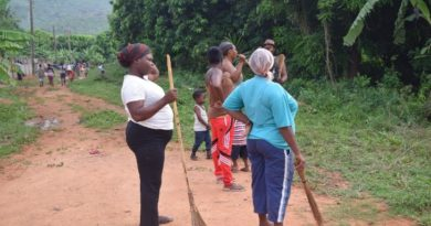 Community members in Obom have been organising clean up activities